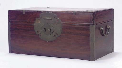 A Chinese huanghuali box and c