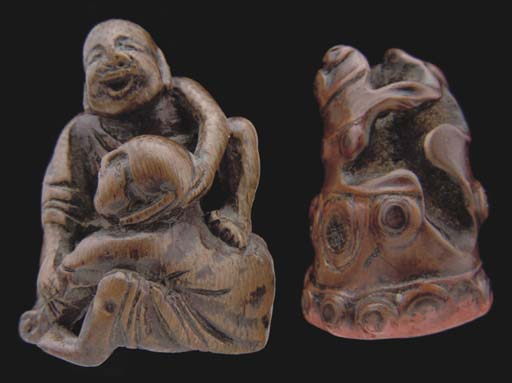A Chinese small bamboo figural