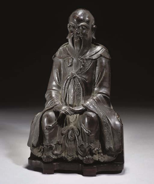 A Chinese bronze model of a Da