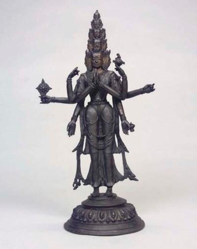 A large Tibetan bronze model o