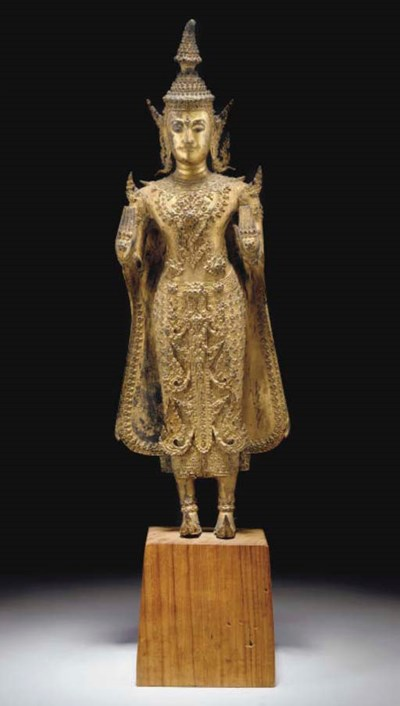 A large Thai gilt-lacquered br