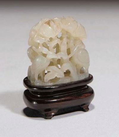 A Chinese pale celadon jade ha