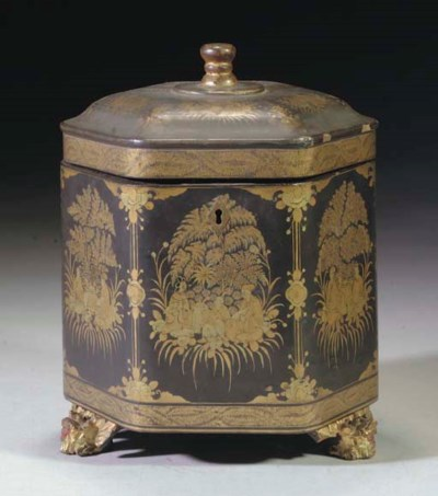 A Chinese hexagonal lacquer an