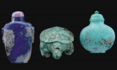 A Chinese turquoise snuff bott