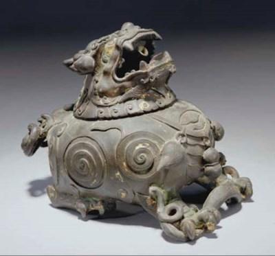 A Chinese bronze buddhistic li