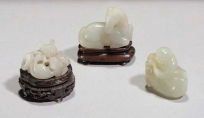 Three Chinese jade carvings, 1