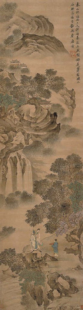 A Chinese hanging scroll, 19th