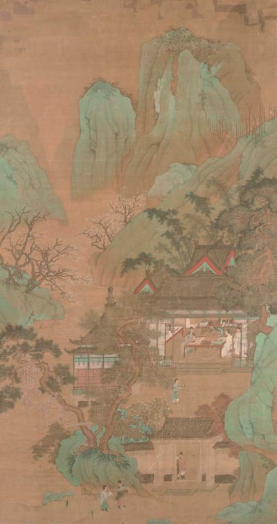 A large Chinese painting, 18th