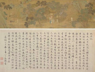 A Chinese handscroll, 18th cen