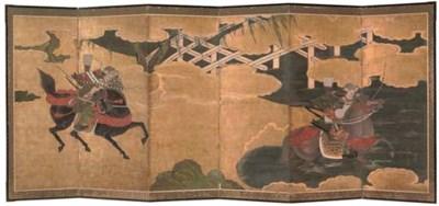 A Japanese six-fold screen, 19