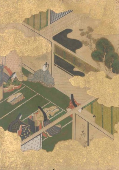 A set of four Japanese paintin