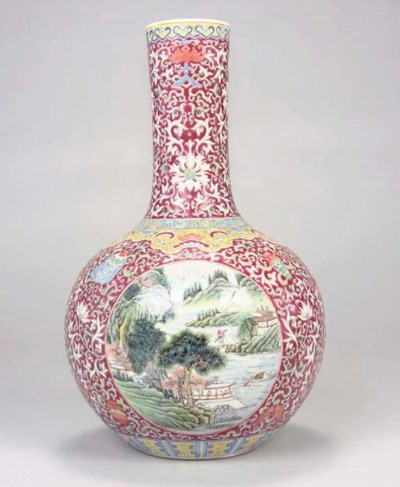 A Chinese famille rose puce gr