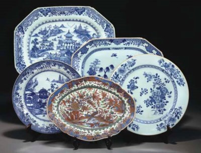 TWO CHINESE BLUE AND WHITE MEA