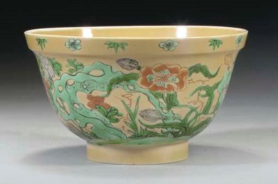 A Chinese famille verte bowl o