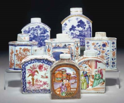 Eight Chinese porcelain teacad