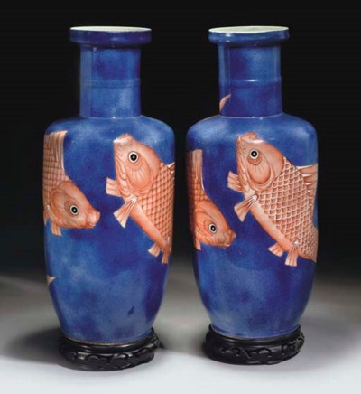 A Pair of Chinese powder blue