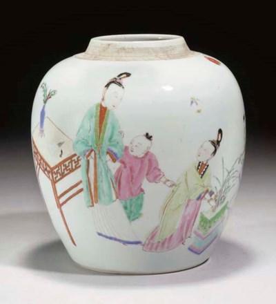 A Chinese famille rose jar, Yo