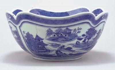 A Chinese blue and white quatr