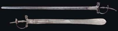 TWO STEEL SWORDS, INDIA, 17TH