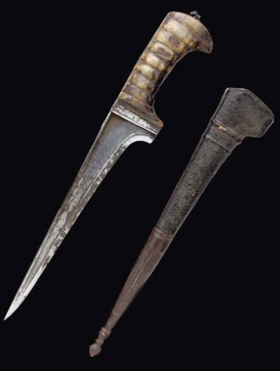 A HORN MOUNTED KHYBER KNIFE, I