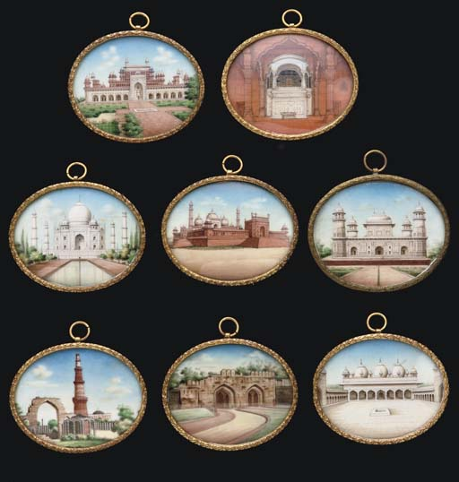 EIGHT VIEWS OF INDIAN MONUMENT