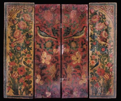 A QAJAR PAINTED WOODEN PANEL,
