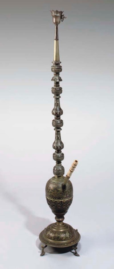AN OTTOMAN WATERPIPE, SYRIA OR