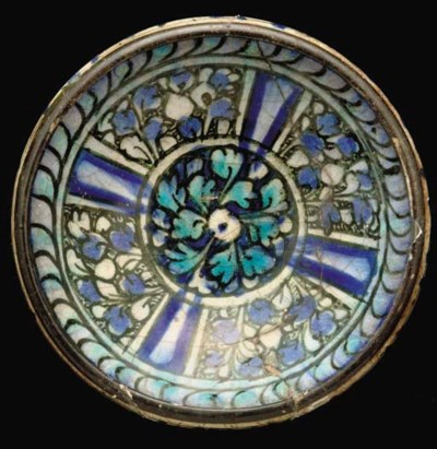 A SULTANABAD POTTERY BOWL, IRA