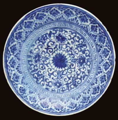 A LATE SAFAVID BLUE AND WHITE