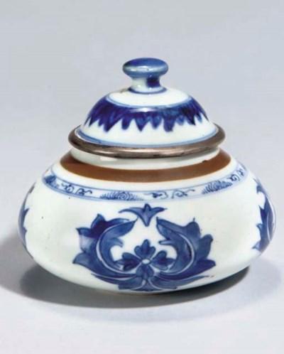 A KANGXI BLUE AND WHITE BOWL W