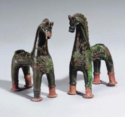 TWO CHANAKKALE HORSES, TURKEY,