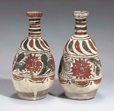 A PAIR OF CHANAKKALE POTTERY V