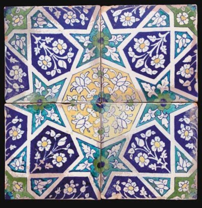 A GROUP OF GEOMETRIC TILES, SI