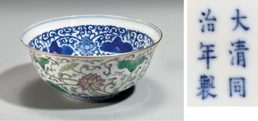 A Famille rose bowl, Tongzhi m