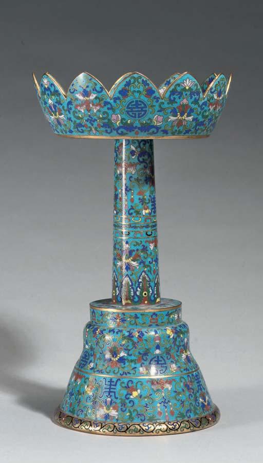 A cloisonne altar vessel, 19th