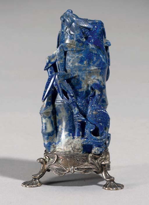 A Lapis lazuli bamboo formed v