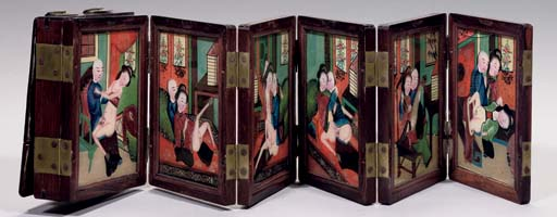 An Erotic wood-cased concertin