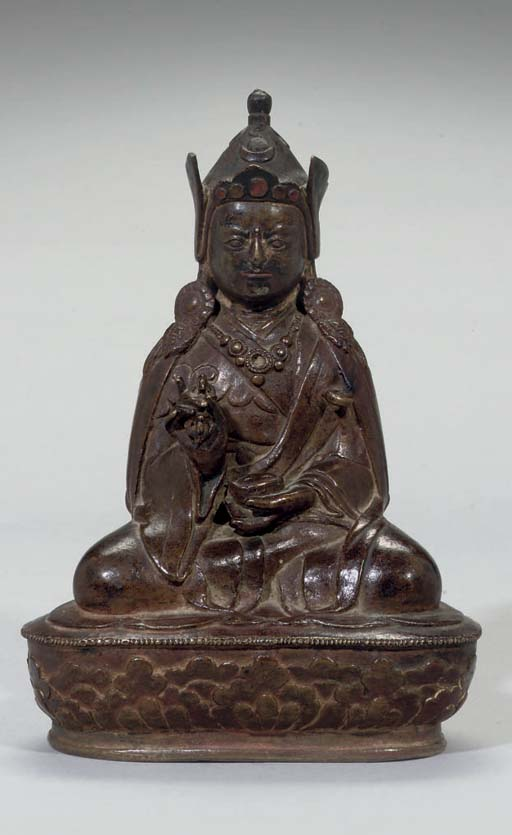 A Mongolian bronze figure of P