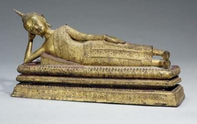 A large Thai gilt bronze model