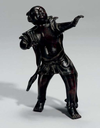 A Bronze figure of a Chinese b