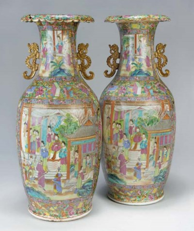 A Pair of Cantonese famille ro