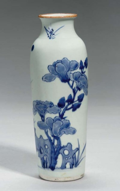 A Chinese blue and white sleev