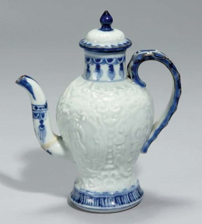 A Chinese blue and white Europ