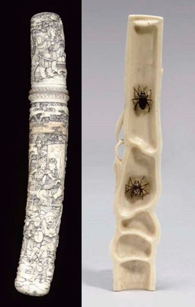 A Japanese ivory tanto, 19th c