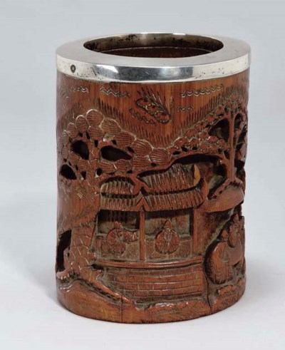 A Chinese bamboo brushpot, 19t