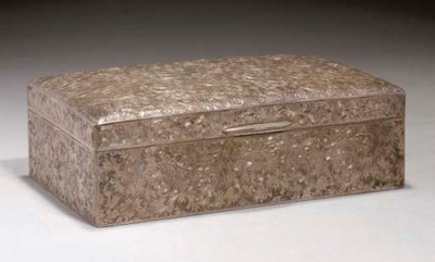A Chinese export silver box an