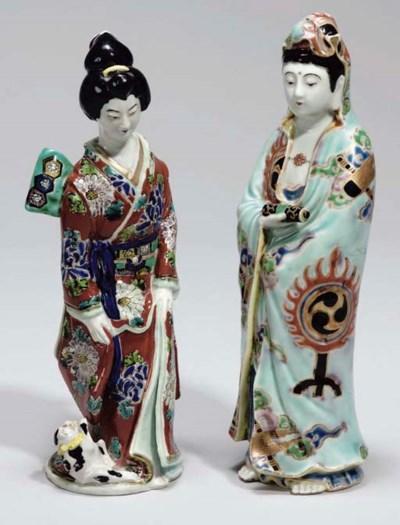 Two Japanese Kutani figures, 2