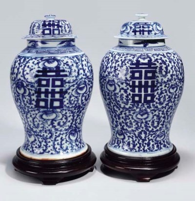 A matched pair of Chinese blue
