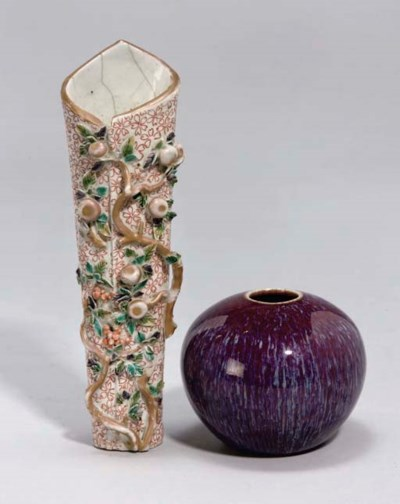 A Chinese wall vase, 18th Cent