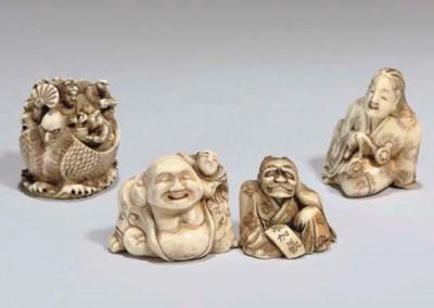 Four Japanese ivory netsuke, 1